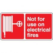 Fire safety sign - Fire Not For Use On 099